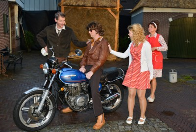 V.l.n.r. Rinus, Dwight, Sophie en Louise.