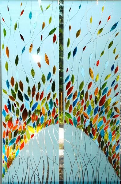 Het glaskunstwerk, dat door de Stichting Marga Klompé op 27 november aan het woon-zorgcomplex 't Talma is aangeboden.