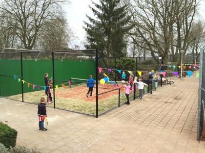 Nieuwe tennisbanen