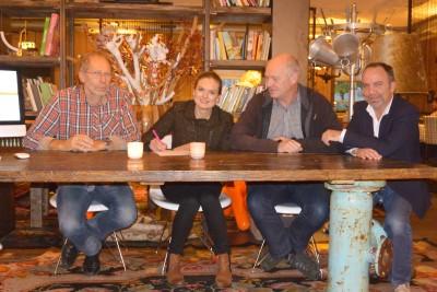 V.l.n.r.: Jans Kirchhoff, Camilla Klein Nagelvoort, Bert de Waal en Jeroen Schoppema.
